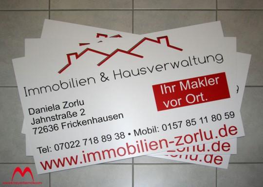Schilder für Immobilienmakler in Frickenhausen