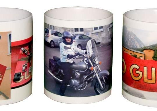 drei-Fototassen-Motorrad