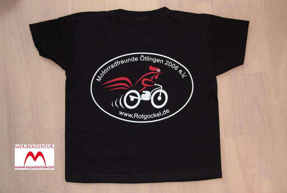 Bedruckte T-Shirts auch für die kleinen Biker