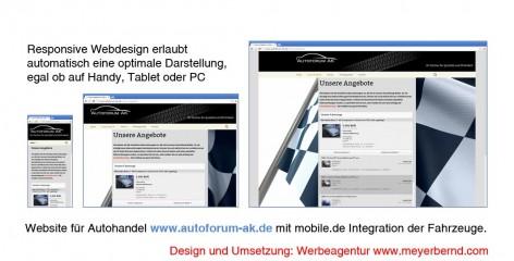 Responsive Webdesign für Autoforum AK