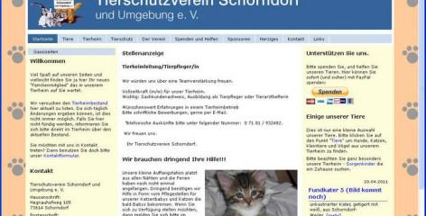Tierschutzverein Schorndorf Website