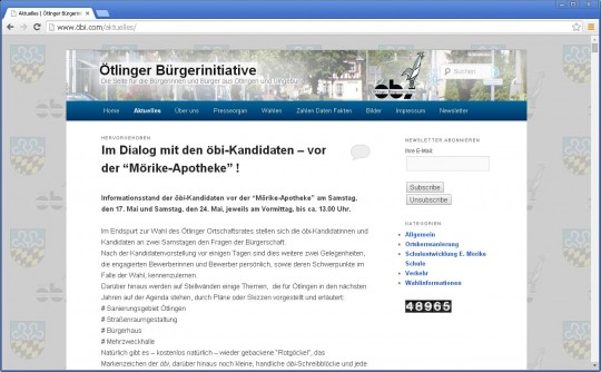 Neue Website der Ötlinger Bürgerinitiative von Werbeagentur meyerbernd.com