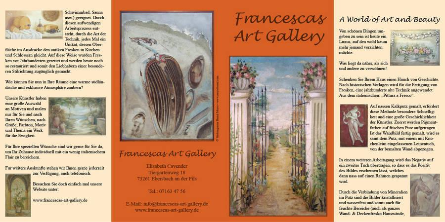 Flyer für Handel mit Kunstwerken