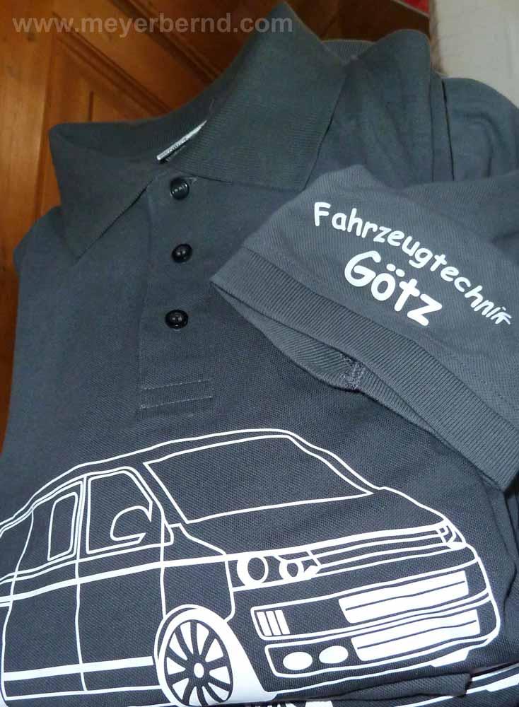 Frische Poloshirts für Fahrzeugtechnik Götz