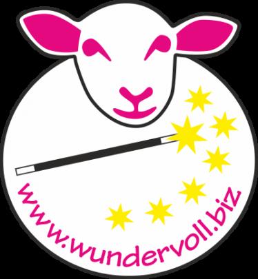 Neues Logo für die Website www.wundervoll.biz. Die Seite bietet qualitativ sehr hochwertige, handgefärbte Wolle an.