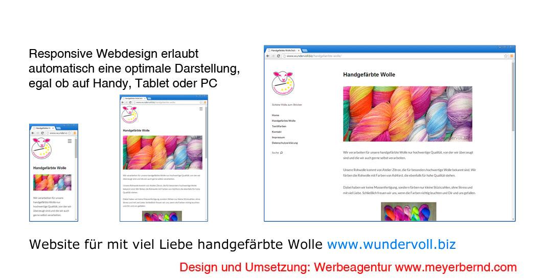 Neue Website für handgefärbte Wolle erstellt – www.wundervoll.biz