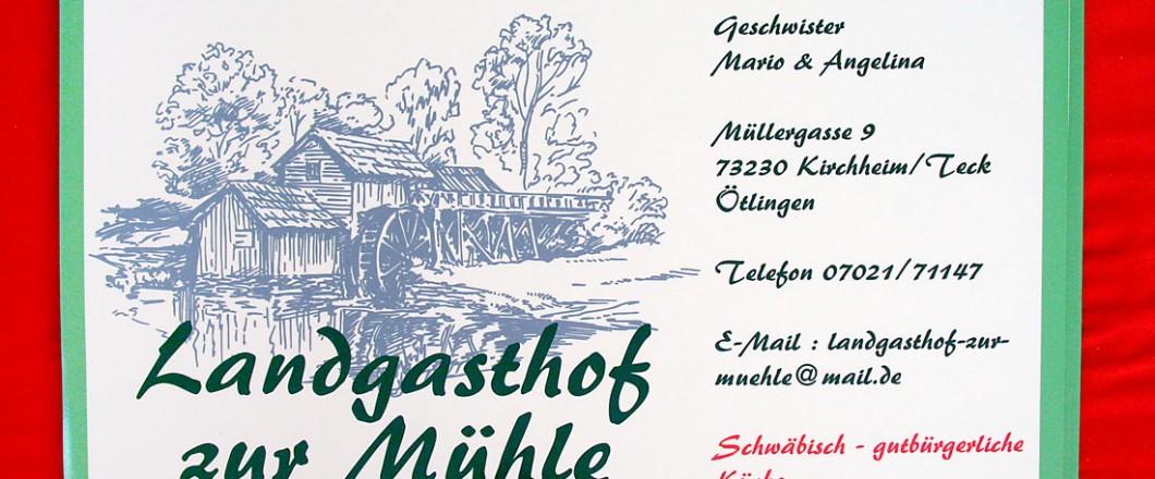 Magnetschilder für den Landgasthof zur Mühle in Kirchheim unter Teck - Stadtteil Ötlingen