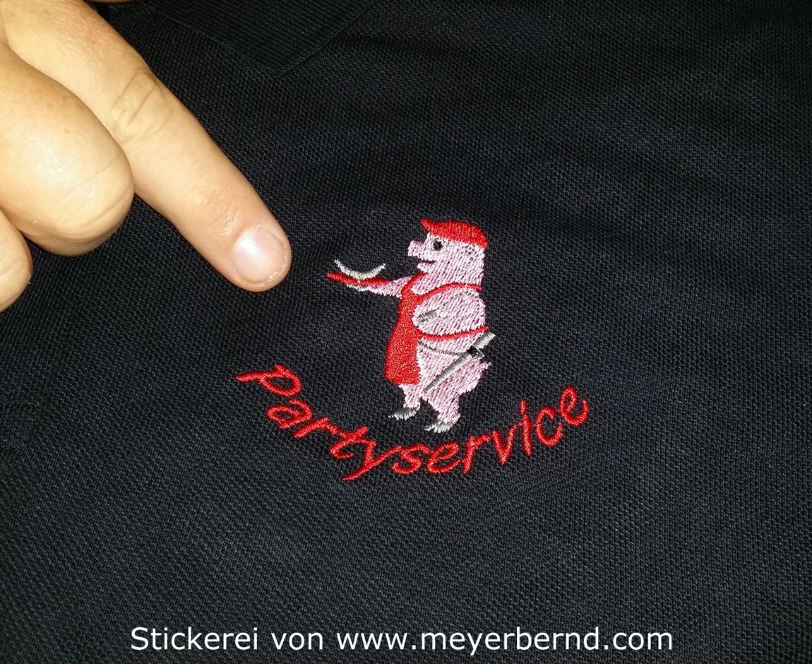 Besticktes-Poloshirt-Partyservice