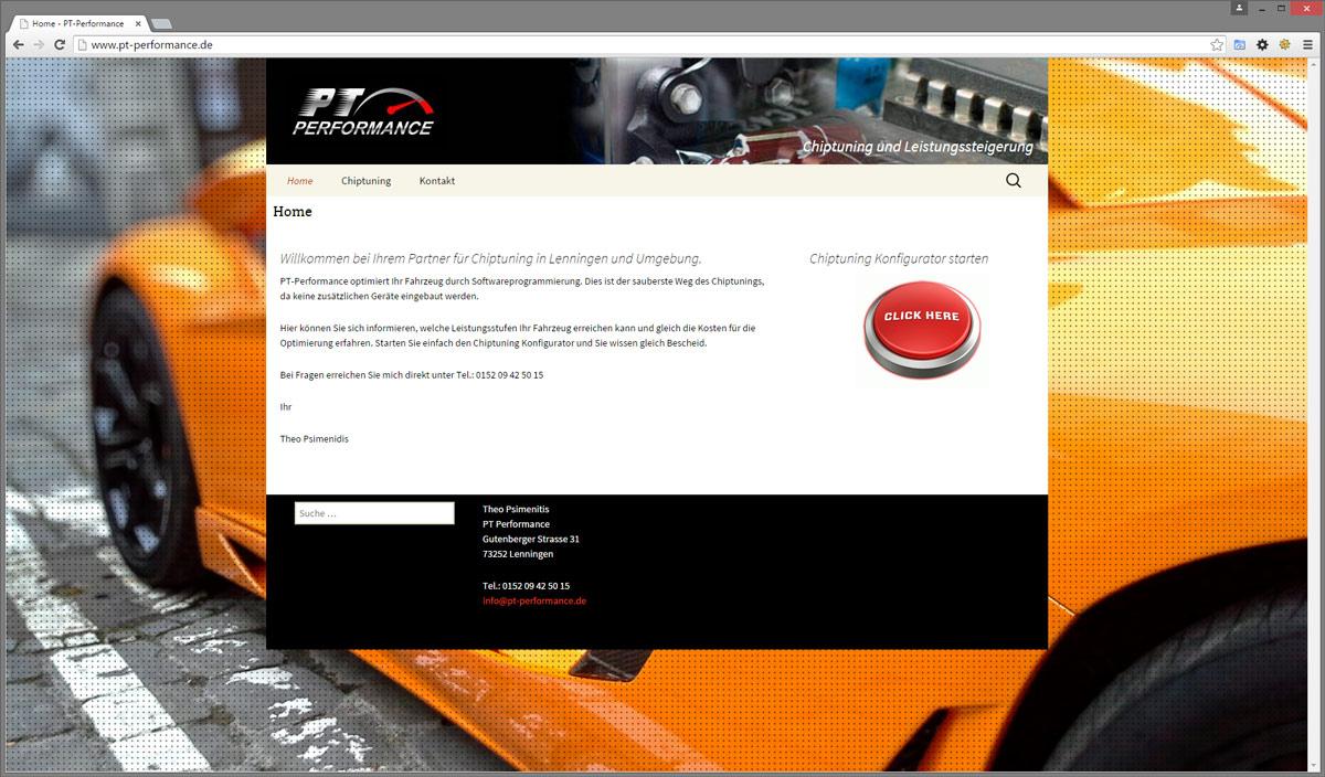 Neue Website gestaltet für Chiptuning Firma in Lenningen