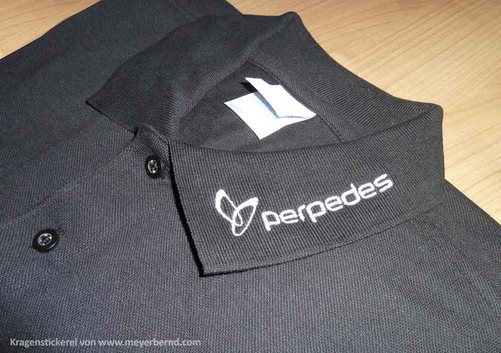 Perpedes-Polohemd-Kragen-Stickerei