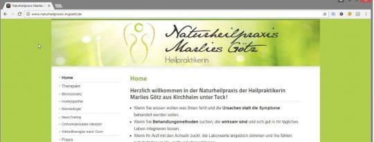 Naturheilpraxis marlies Götz in Kirchheim unter Teck - Website Header
