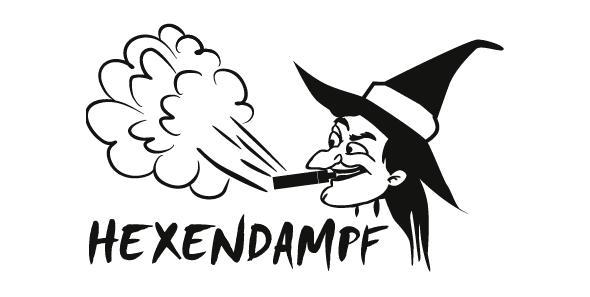 Logo für den Dampferladen Hexendampf gestaltet