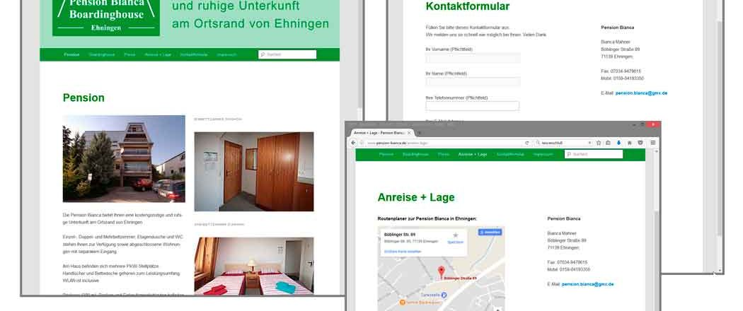 Neue Website für Pension Bianca in Ehningen