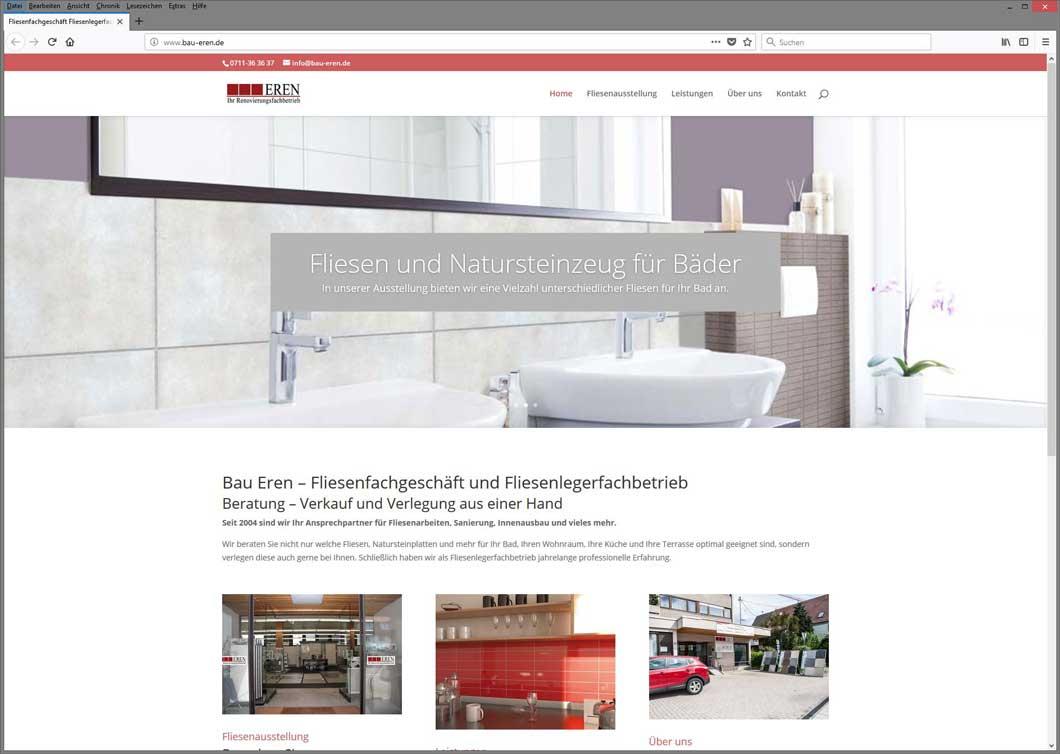 Neue Website für Innenausbau Eren aus Aichwald erstellt