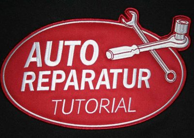 Stickerei-Auto-Reparatur-Tutorial