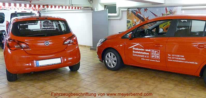 Folienbeschriftung für neue Autos kurzfristig erledigt