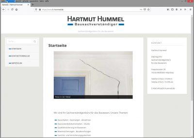 Neue Website Hartmut Hummel Bausachverständiger - Startseite