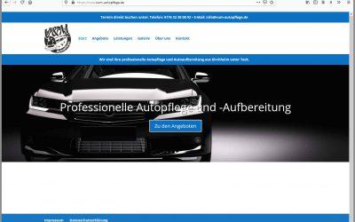 Für V und M Autopflege schaffen wir eine neue Website