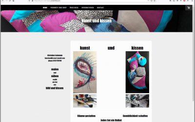 Kunst und Kissen – Neue Website umgesetzt