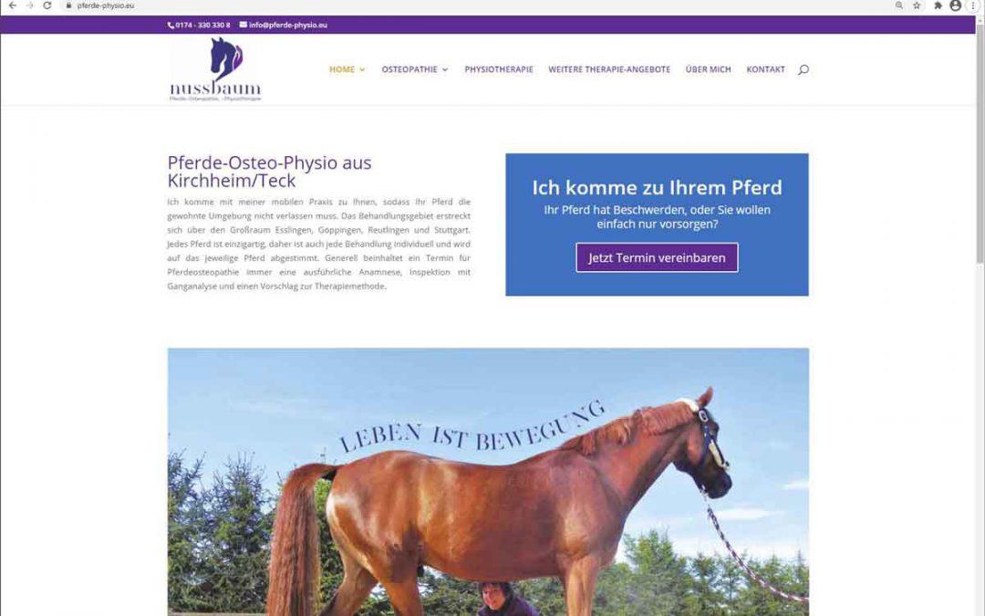 Neue Website für Pferde-Physio.eu