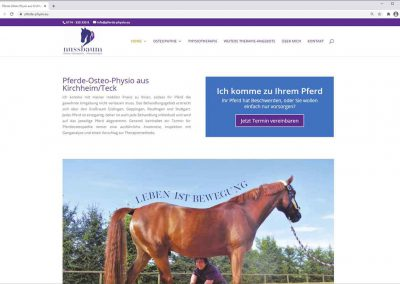 Neue Website für Pferde-Physio.eu aus Kirchheim unter Teck