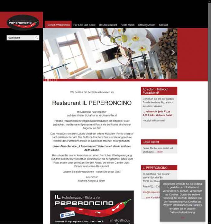 Alte Website des il Peperoncino