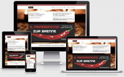 Pizzeria il Peperoncino zur Brenne erhält neue Website