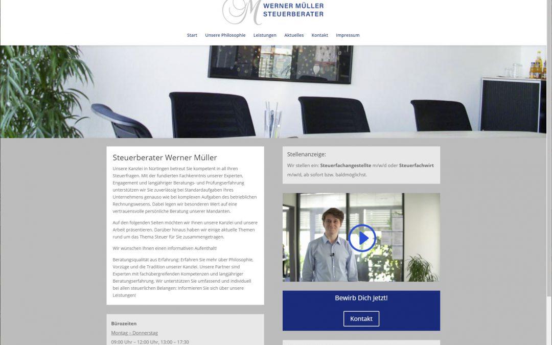 Website Steuerberater Müller aus Nürtingen aktualisiert und erweitert